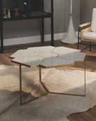 Jamie Young Honeycomb Coffee Table and Matching Items