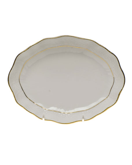 Herend Golden Edge Small Oval Dish
