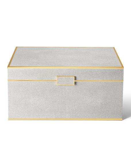 AERIN Luxe Shagreen Jewelry Box