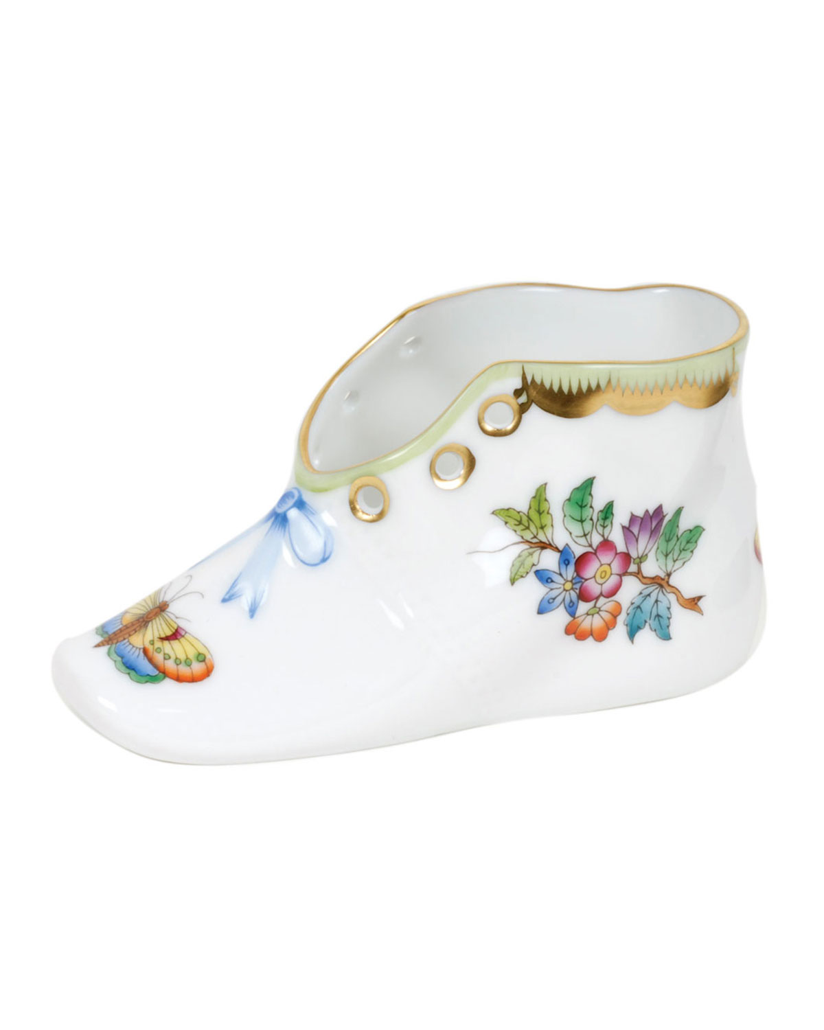 Herend QUEEN VICTORIA GREEN BABY SHOE