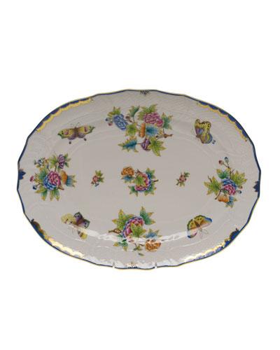 Queen Victoria Blue Platter