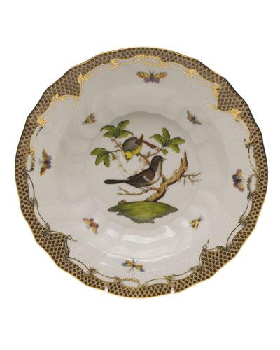 Rothschild Bird Brown Motif 01 Rim Soup Bowl