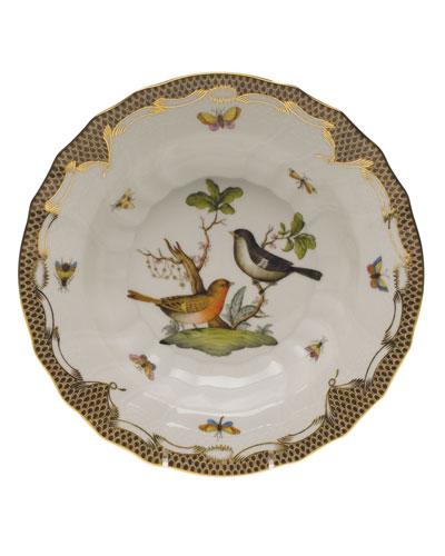 Rothschild Bird Brown Motif 05 Rim Soup Bowl