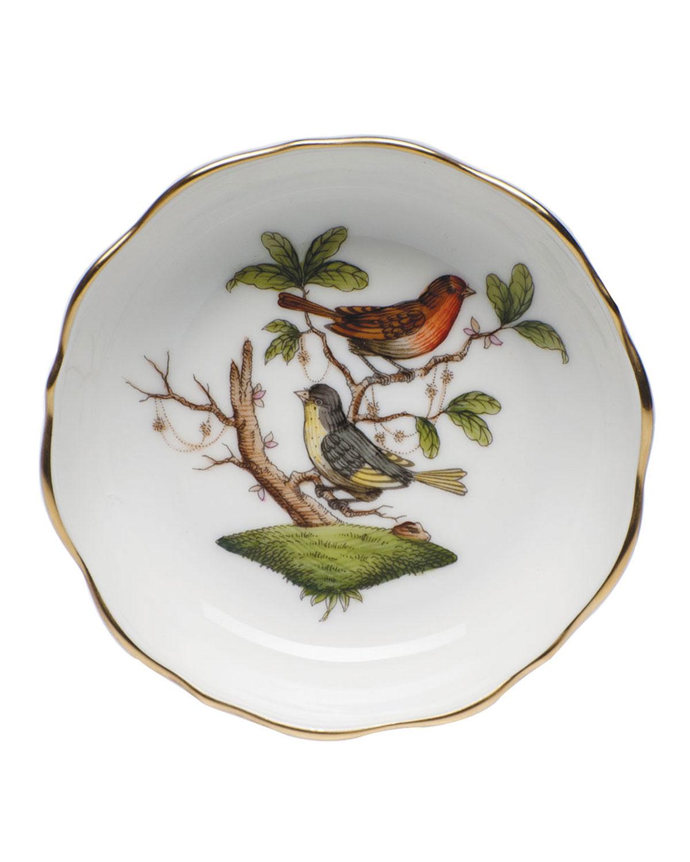 Herend ROTHSCHILD BIRD MINI SCALLOPED DISH
