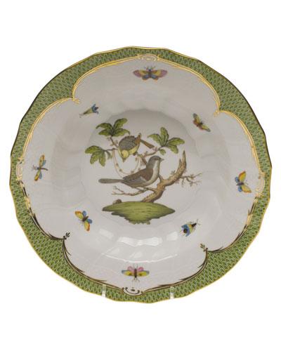 Rothschild Bird Green Motif 01 Rim Soup Bowl