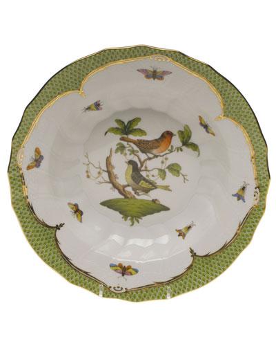 Rothschild Bird Green Motif 03 Rim Soup Bowl