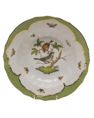 Rothschild Bird Green Motif 04 Rim Soup Bowl