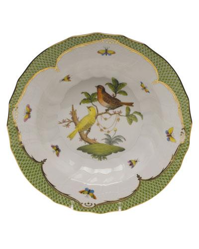 Rothschild Bird Green Motif 06 Rim Soup Bowl