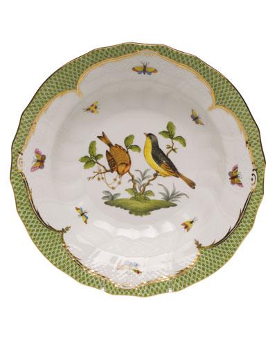 Rothschild Bird Green Motif 07 Rim Soup Bowl