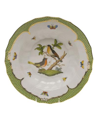 Rothschild Bird Green Motif 08 Rim Soup Bowl