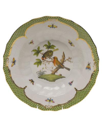Rothschild Bird Green Motif 10 Rim Soup Bowl