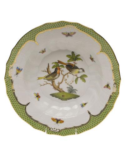 Rothschild Bird Green Motif 11 Rim Soup Bowl
