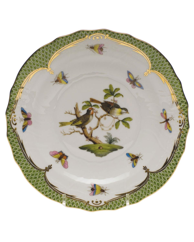 Herend ROTHSCHILD BIRD GREEN MOTIF 11 SALAD PLATE