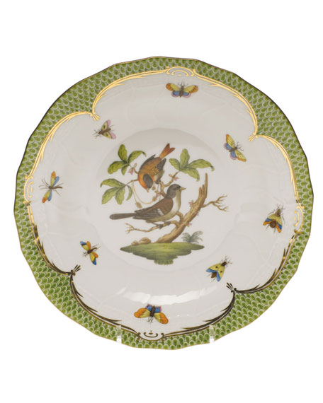 Herend Rothschild Bird Green Motif 04 Dessert Plate