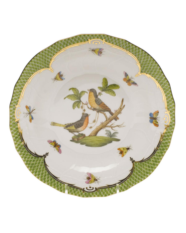 Herend ROTHSCHILD BIRD GREEN MOTIF 08 DESSERT PLATE