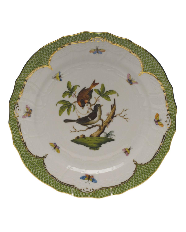 Herend ROTHSCHILD BIRD GREEN MOTIF 04 SERVICE PLATE