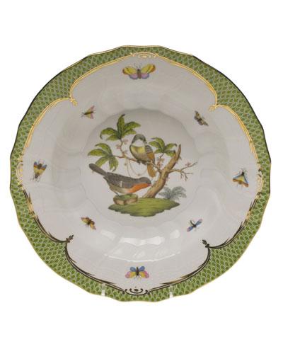 Rothschild Bird Green Motif 02 Rim Soup Bowl