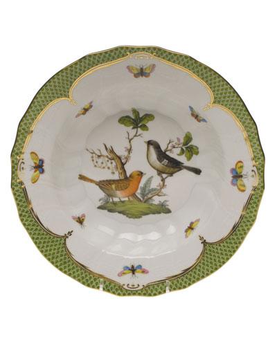 Rothschild Bird Green Motif 05 Rim Soup Bowl
