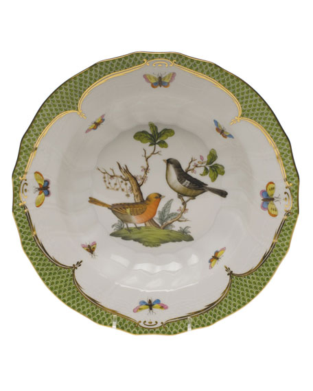 Herend Rothschild Bird Green Motif 05 Rim Soup Bowl