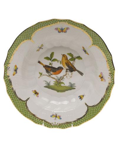 Rothschild Bird Green Motif 09 Rim Soup Bowl