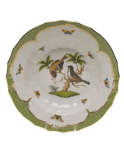 Rothschild Bird Green Motif 12 Rim Soup Bowl