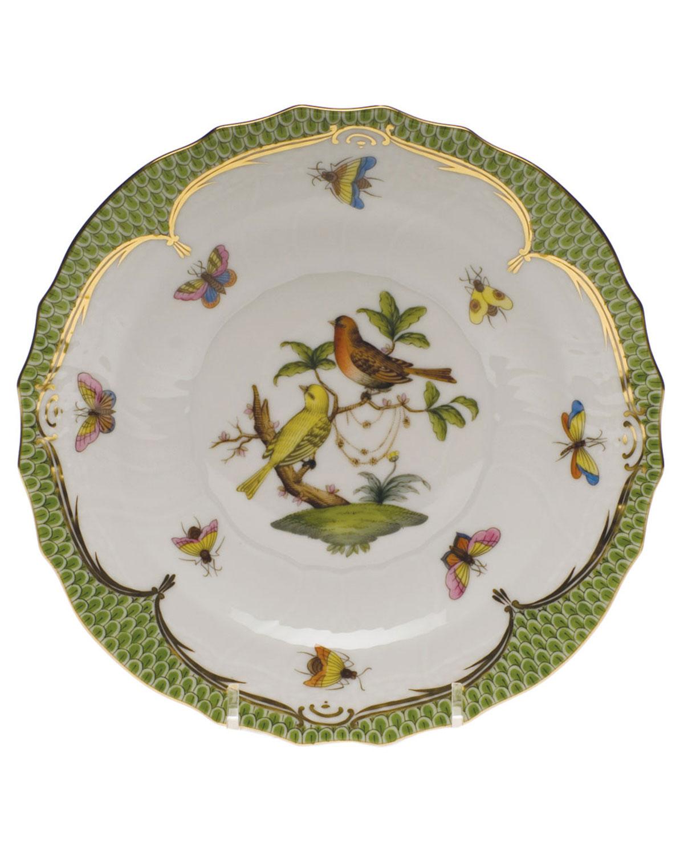 Herend ROTHSCHILD BIRD GREEN MOTIF 06 SALAD PLATE
