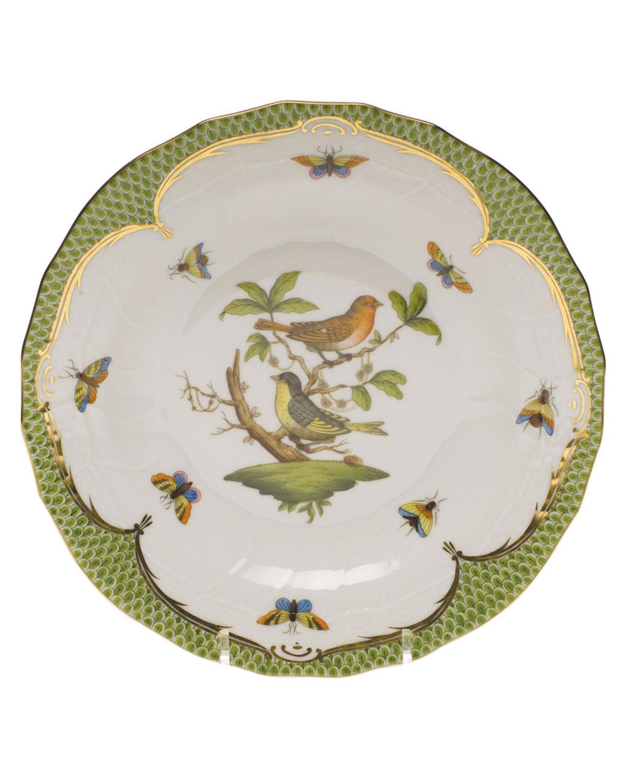 Herend ROTHSCHILD BIRD GREEN MOTIF 03 DESSERT PLATE