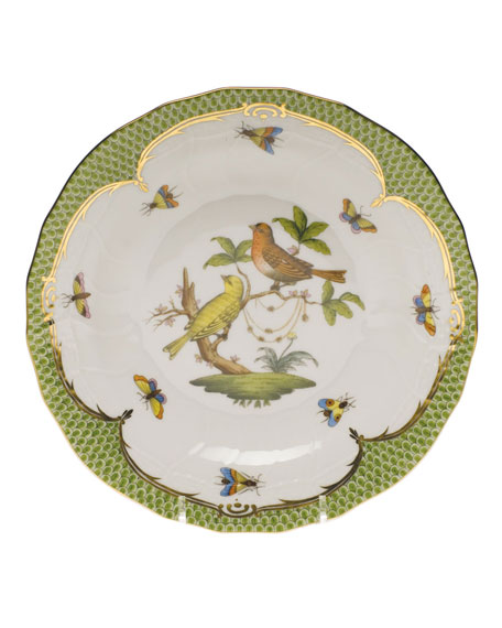 Herend Rothschild Bird Green Motif 06 Dessert Plate