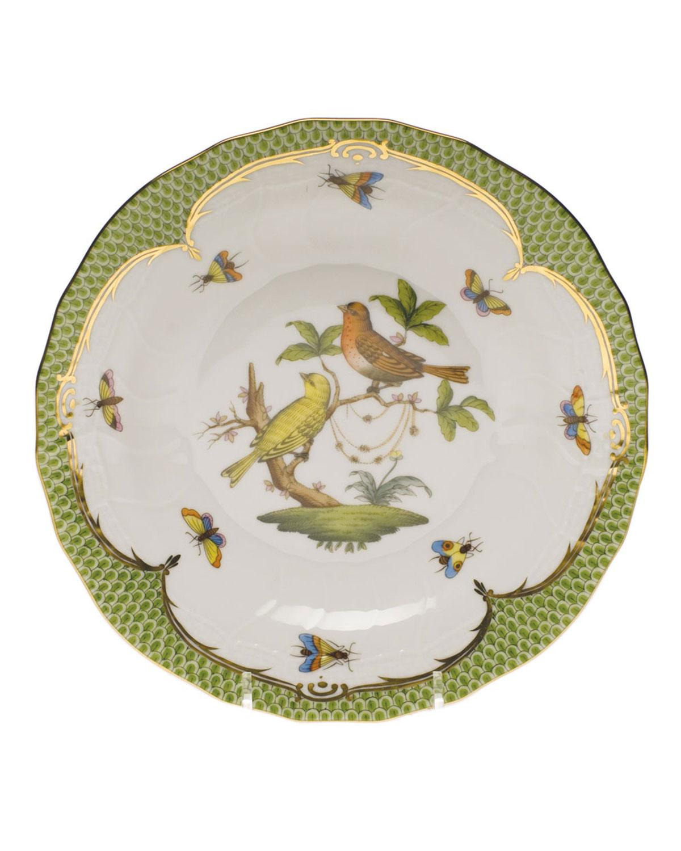 Herend ROTHSCHILD BIRD GREEN MOTIF 06 DESSERT PLATE
