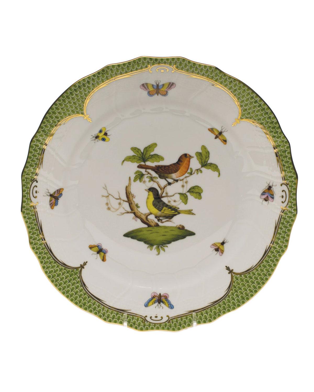 Herend ROTHSCHILD BIRD GREEN MOTIF 03 DINNER PLATE