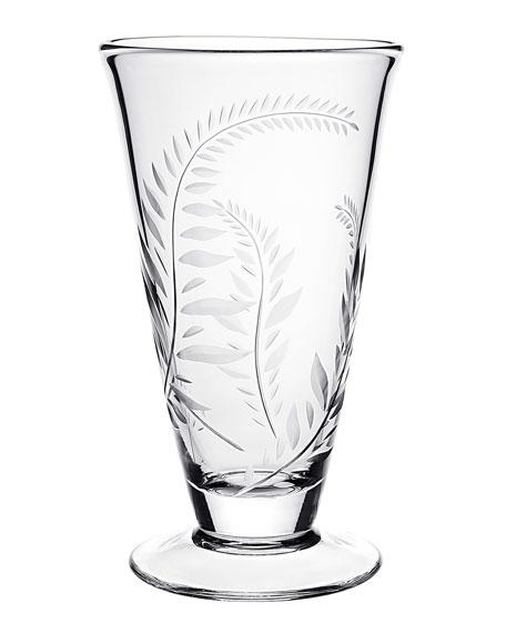 """William Yeoward Jasmine Footed Vase, 9"""""""