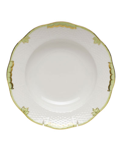 Princess Victoria Green Rim Soup Bowl