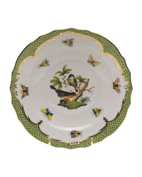 Herend Rothschild Bird Green Motif 02 Salad Plate