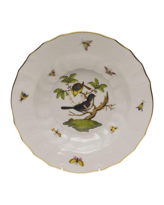Herend ROTHSCHILD BIRD MOTIF 1 RIM SOUP PLATE