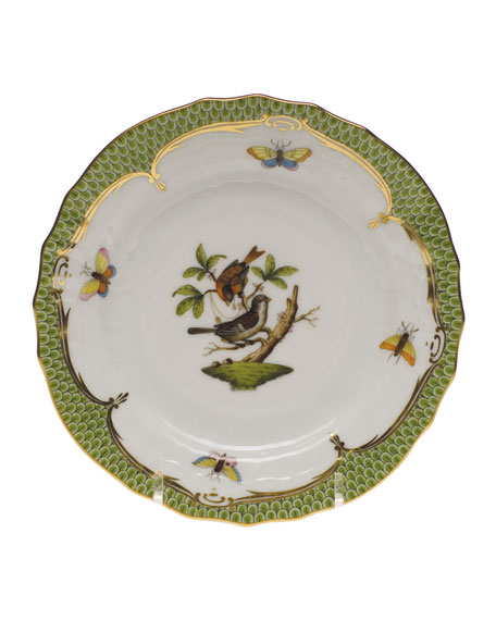 Herend Rothschild Bird Green Motif 4 Bread & Butter Plate