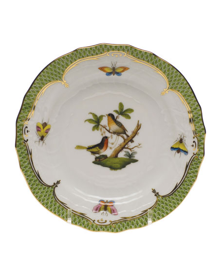Herend Rothschild Bird Green Motif 8 Bread & Butter Plate