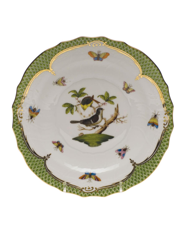 Herend ROTHSCHILD BIRD GREEN MOTIF 01 SALAD PLATE