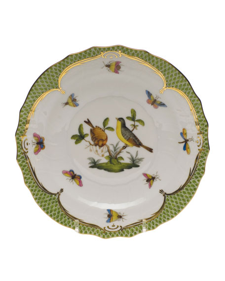 Herend Rothschild Bird Green Motif 07 Salad Plate