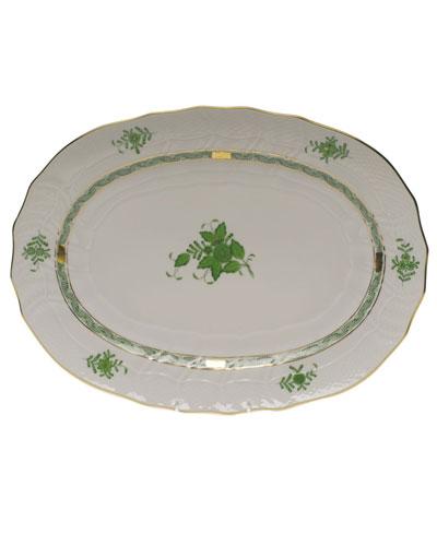 Chinese Bouquet Green Platter