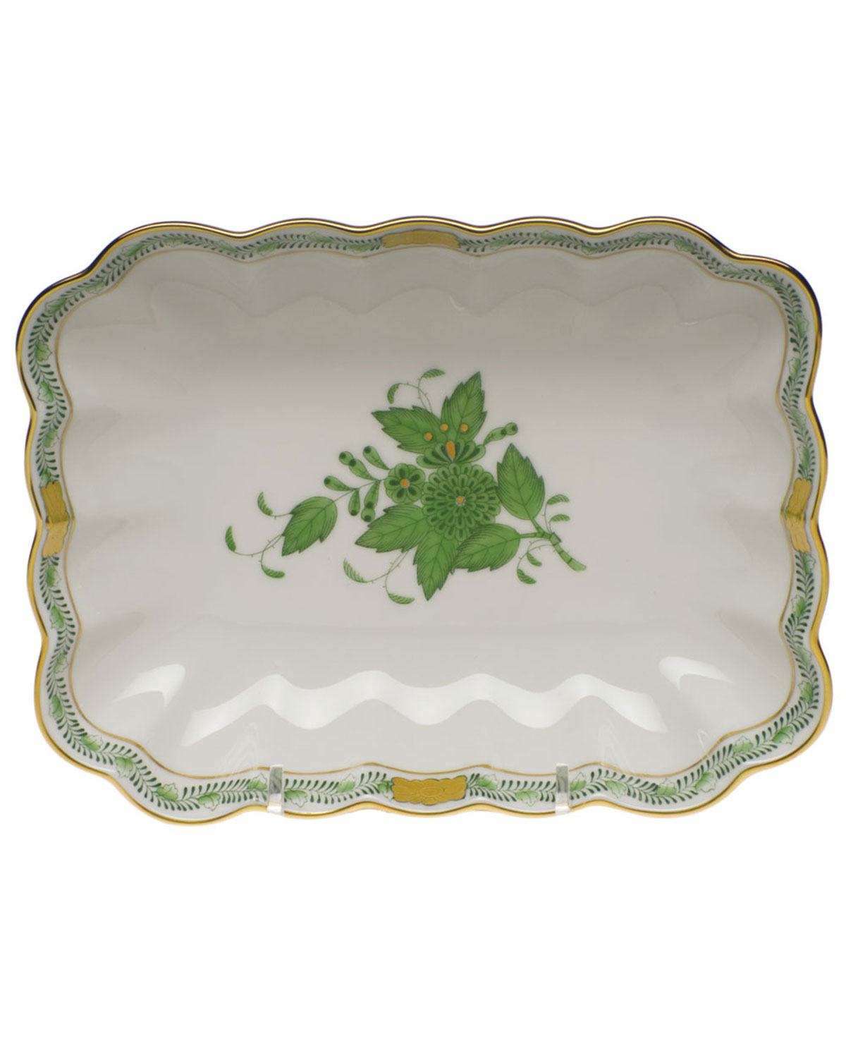 Herend CHINESE BOUQUET OBLONG DISH - GREEN