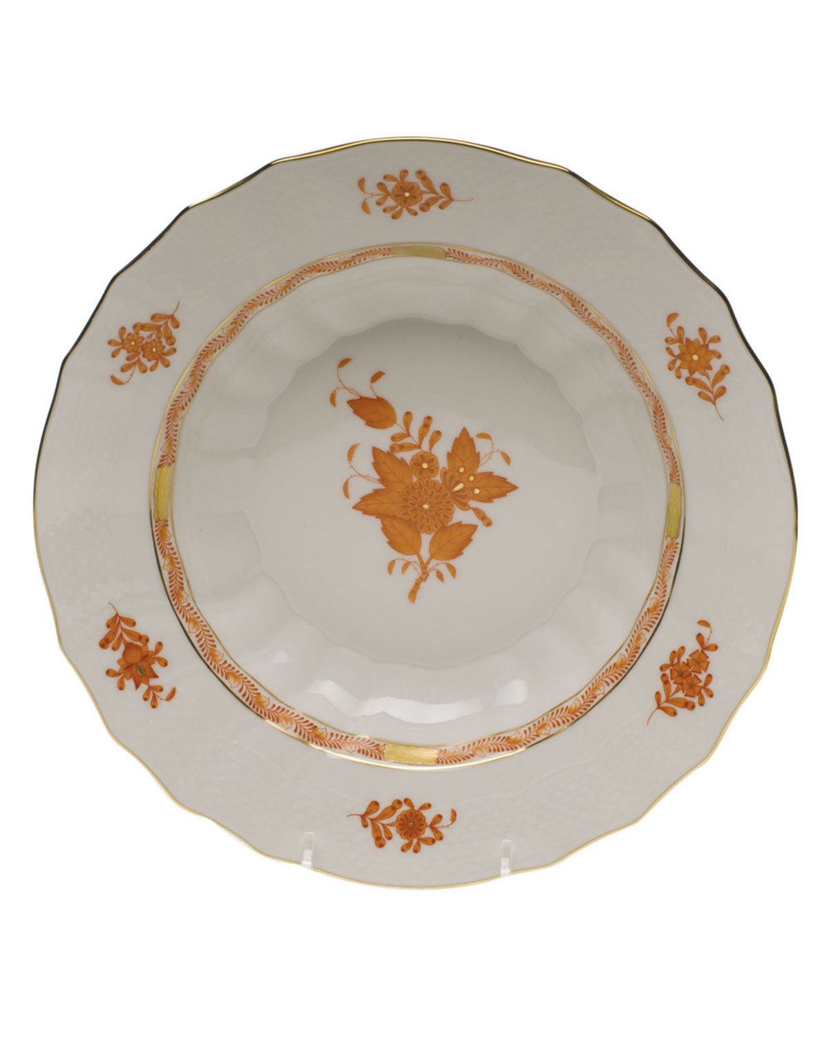 Herend CHINESE BOUTIQUE RUST RIM SOUP BOWL
