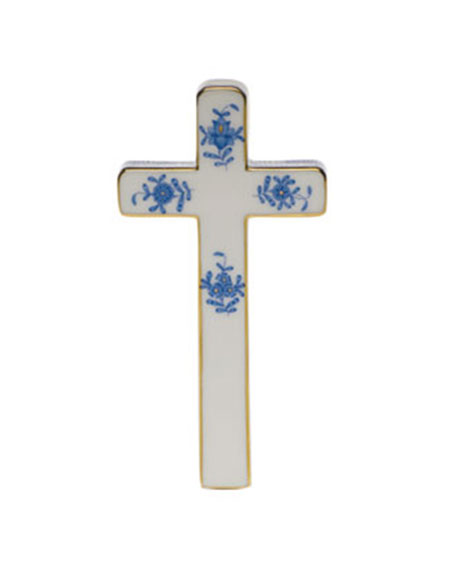 Herend Chinese Bouquet Decorative Porcelain Cross - Rose