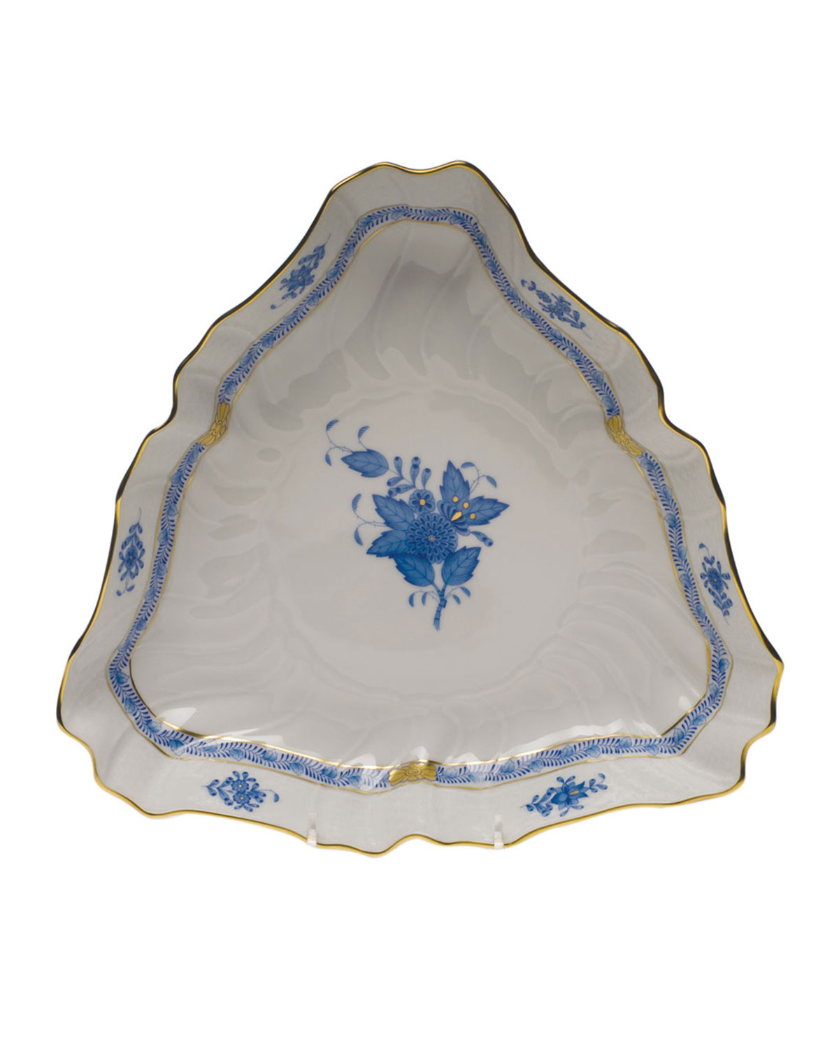 Herend CHINESE BOUQUET TRIANGLE VEGETABLE DISH