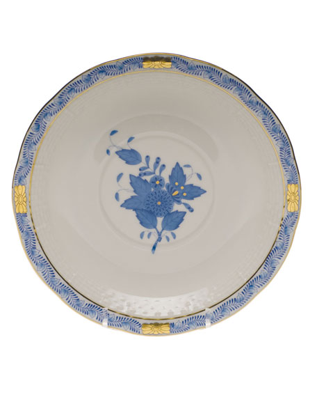 Herend Chinese Bouquet Blue Cream Soup Stand