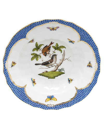 Rothschild Blue Motif 04 Rim Soup Bowl