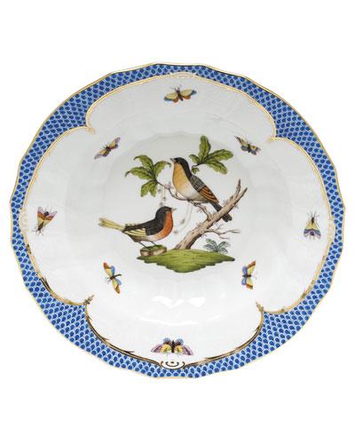 Rothschild Blue Motif 08 Rim Soup Bowl