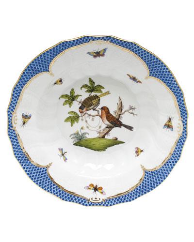 Rothschild Blue Motif 10 Rim Soup Bowl