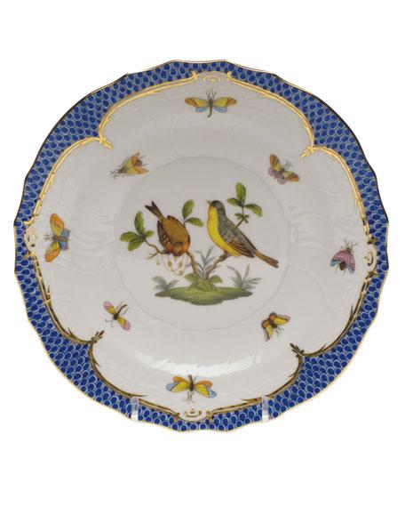 Herend Rothschild Blue Motif 07 Salad Plate