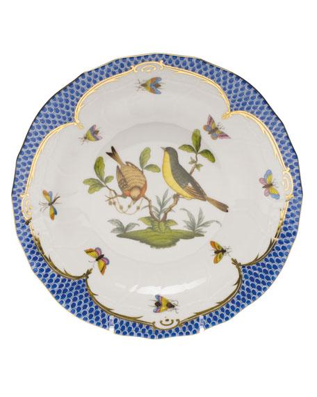 Herend Rothschild Blue Motif 07 Dessert Plate