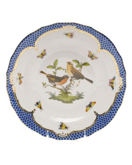 Herend Rothschild Blue Motif 09 Dessert Plate